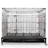 Grande cane Gabbia per cani Animali Filo spessore in acciaio Gabbia pieghevole Letto per cani Gabbia di gatto Gabbia di coniglio Con ruote , s
