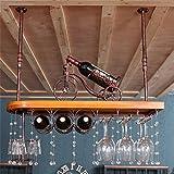 Hängendes angebrachtes Metallwein-Gestell, europäisches massives Wein-Glas-hängendes Regal-u. Becher-Regal für Küche / Bar / Restaurant ( Farbe : Bronze , größe : 100*28cm )