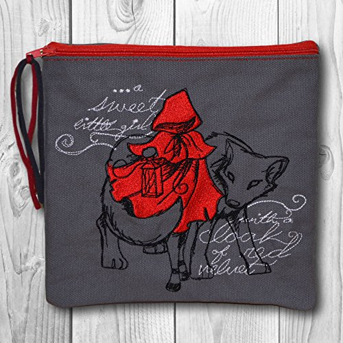 Kosmetiktasche Kulturtasche - Motiv: Red Riding Hood (Red Riding Hood Make Up)