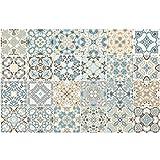 Chansted 24 Piezas Azulejos Impermeables Mosaico Pared Pegatina Cocina baño decoración Adhesiva