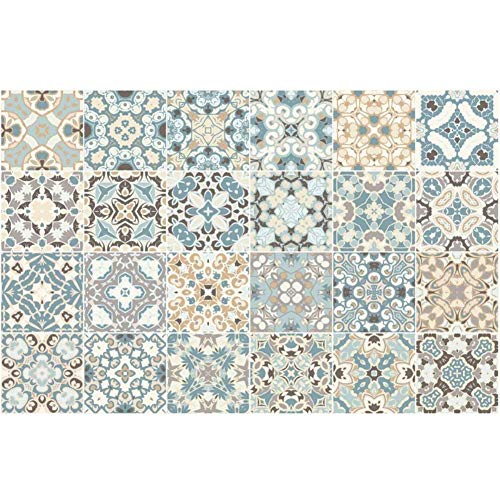 Chansted 24 Piezas Azulejos Impermeables Mosaico Pared