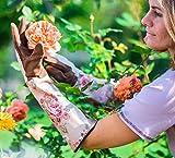 Garden Girl rr22s Floral Print Classic fresh Rose Handschuhe–Braun/Beige