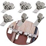 Clip Porta Penna in Acciaio,6 Pezzi Portapenne metallo clip tasca Portapenne Clip Portapenne Regolabile Molla Clip tasca per