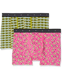 Scotch & Soda Colourful Boxer with All-Over Printed Pattern, Short Homme lot de 2