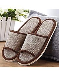 Qsy shoe Cuatro Estaciones Famosas de Lino Abierto, Zapatillas de Lino Hotel Estrella dedicado Interior, Folklore de…