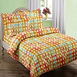 Swaas Checks Double Printed Cotton Bed S...