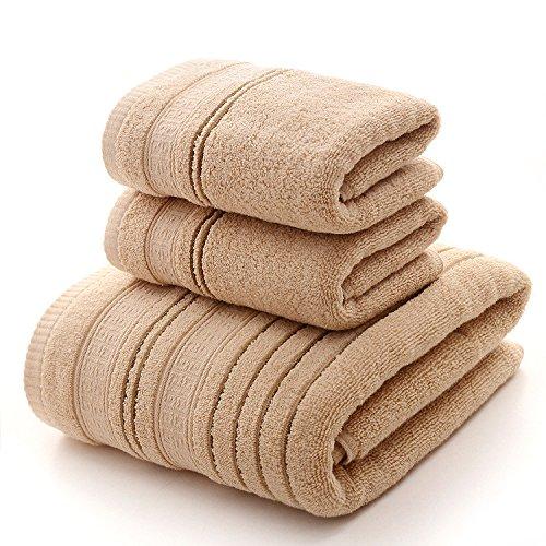 DANCICI Element geschmiedet Handtuch Badetuch dreiteiligen Anzug angesaugten Wasser nach verdickte weichen Handtuch Handtuch Set, café Farbe Kaffee Farbe