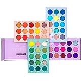 Palette di ombretti a 60 colori, tavolo 4 in 1 con glitter ad alta pigmentazione, rotazione dell'ombretto opaco, tavolozza pe