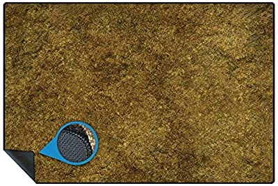 6ftx4ft Tabletop Terrain Mat in Rubber Mouse Mat Material with Stiched Edge - Grass Battlefield Design