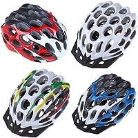 IntellaTrust (TM)-Nuova 41 su strada, da uomo, MTB Race Hero-Bicicletta di sicurezza per Casco con visiera, per adulti, Unisex, 205 g, colore: rosso/bianco/blu/multicolore