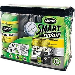 Slime CRK0305-IN Pneumatico Antiforatura, Riparazione Intelligente, Kit di Emergenza, Contiene Sigillante e Compressore…