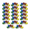 100er Set Glühbirnen farbig gemischt 25W E27 Rot Gelb Grün Blau Orange von NCC-Design