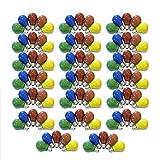 100er Set Glühbirnen farbig gemischt 25W E27 Rot Gelb Grün Blau Orange