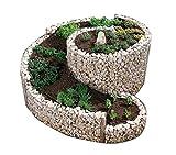 bellissa Gabionen-Kräuterspirale 'Die Große' - 95600 - Steinkorb-Kräuterschnecke - Bausatz aus frostsicheren Materialien inkl. Trennfolie - 200 x 150 x 20/80 cm