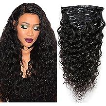 Extension capelli ricci biondi clip