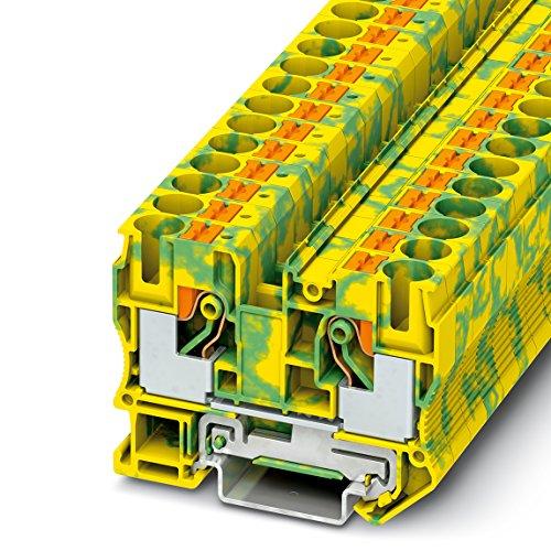 PHOENIX CONTACT Schutzleiter-Reihenklemme PT 10-PE, 50 Stück, 3212131