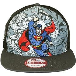 New Era 9Fifty héroe liquidarlos supermán gorra Negro negro Talla:S/M