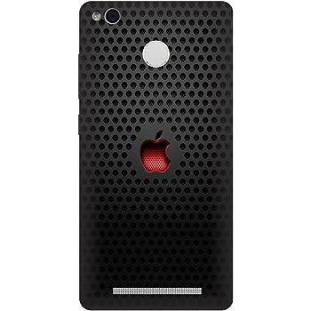 Saviyo Red Apple Logo Hard Polycarbonate Designer Back Case Cover for Xiaomi Mi Redmi 4