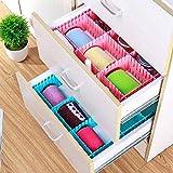#4: Adjustable & Interlocking Plastic Closet Drawer Dividers Organizers, 43.5 X 9cm, 5 Strips