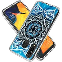 Funda para Samsung Galaxy M30 / A40S,Transparente [Anti-Choque] [Anti-arañazos] Funda con Tarjeta de Dibujos Animados (Mandala)