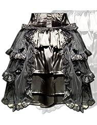 Falda de estilo victoriano pisos negro