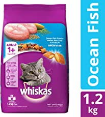 Whiskas Dry Cat Food, Ocean Fish for Adult cats, 1.2 kg