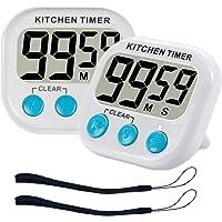 ZFYQ Timer da cucina  Magnetico Digitale Timer Da Cucina Con Allarme Forte e Ampio Display LCD  2 Pezzi