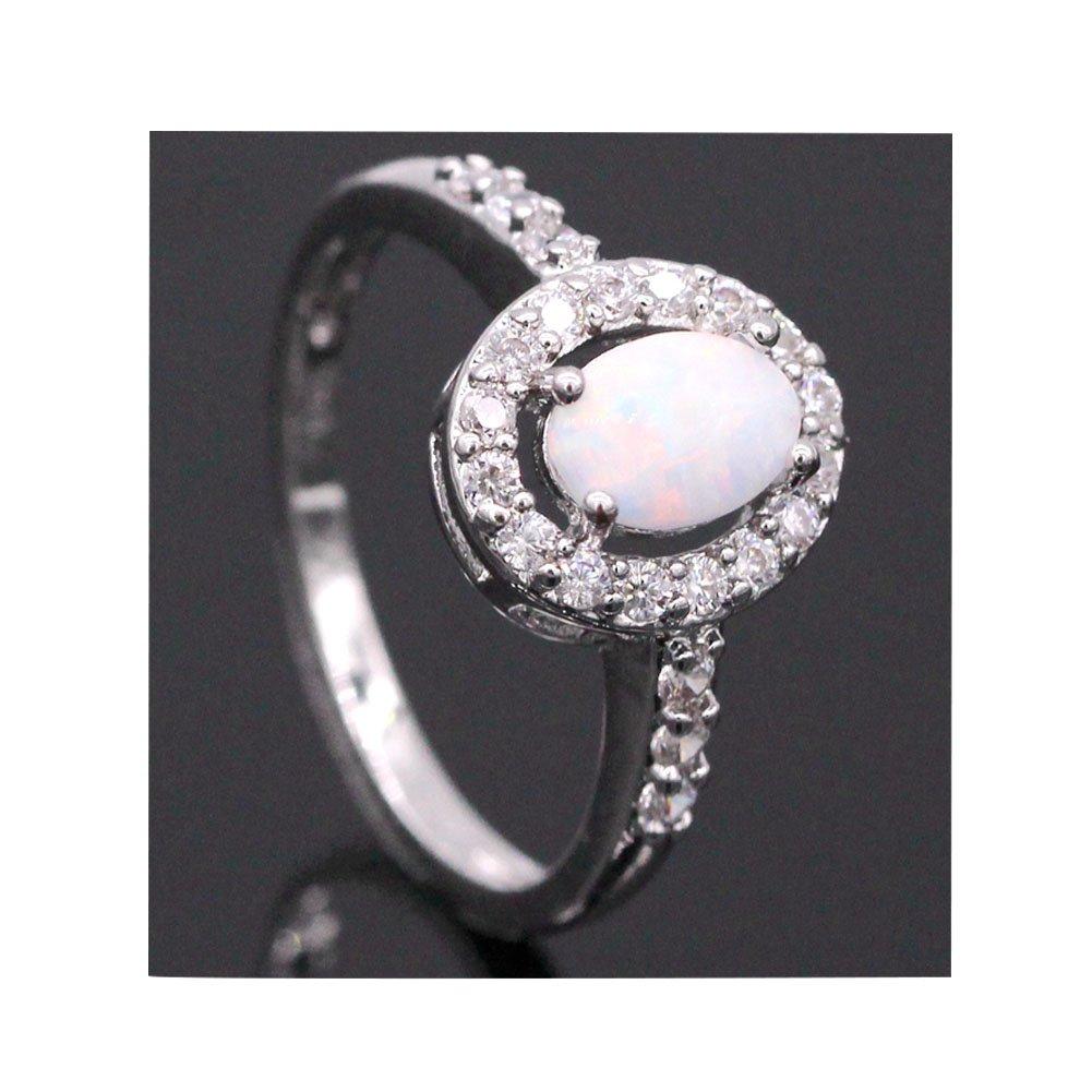 LOVE STUDIO,monili di modo dell'anello delle donne del AAA zircone oro 10K & Bianco regalo anello pl