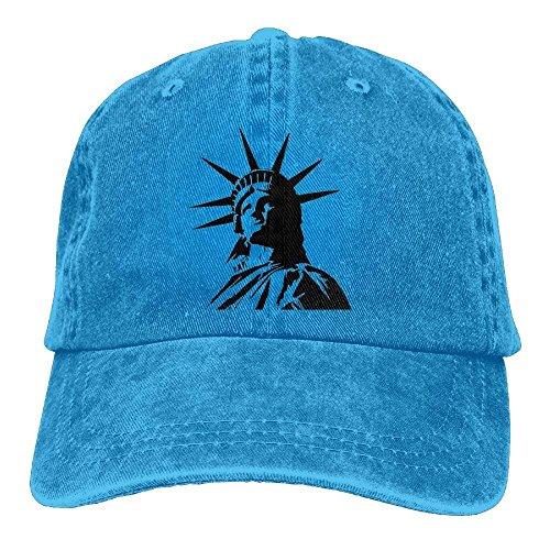 ferfgrg Statue of Liberty Retro Washed Dyed Cotton Adjustable Baseball Cowboy Cap HI533