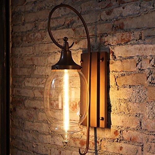 FGDJTYYJ LED-Wandleuchte Außenwandleuchte Gartenleuchte wasserdichte Hardware Glaskorridor Balkonbeleuchtung Restaurant Foyer E27 * 1 Flöte Glühbirnen, B -