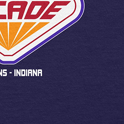 NERDO Hawkins Palace Arcade - Damen T-Shirt Navy