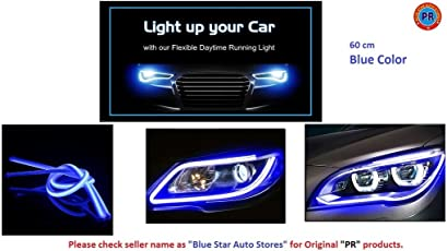 PR Daytime Running Blue Light 60cm LED DRL One Pair-Maruti Swift Dzire Old