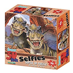 Howard Robinson Super 3D Efecto T-Rex Dinsosaur Rompecabezas - 48 Piezas