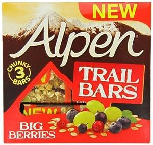 Alpen Berries Trail Bar 48g x 3 (Pack of 11, 33 bars in total)