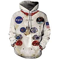 Chaos World NASA 3D Felpa Uomo con Cappuccio Unisex Pullover Hoodie Sweatshirt