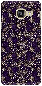 The Racoon Lean printed designer hard back mobile phone case cover for Samsung Galaxy A3 (2016). (Night Desi)