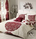 Just Contempo Baroque Duvet Cover Set - King, Red