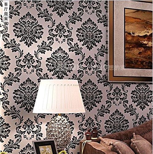 BTJC Sfondo 3D vero oro velluto panno non tessuto carta da parati di lusso stile europeo soggiorno camera da letto con TV ,