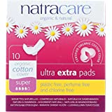 Natracare Ultra Extra Pads with Wings - Super - Chlorine Free - 10 Count (Pack of 4)
