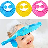 LINVILA Adjustable Baby Shower Cap New Soft Bathing Baby Wash Hair Eye Ear Protector Hat for New Born Infants Babies…