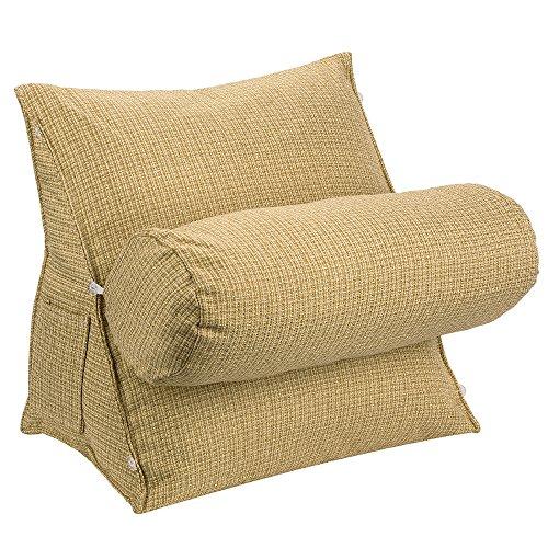 Halovie cuscino triangolo, supporto cuscino a forma di cuneo regolabile 47 * 45 * 23 support pillow per letto divano lettura tv lino