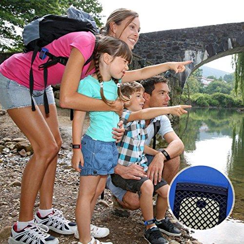 Imagen de pulsera antimosquitos repelente de mosquitos natural pack de 3  protección sin deet contra insectos y virus zika  roja, azul, negra con 6 recargas alternativa