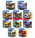 Enlarge toy image: Set of ten random Hot Wheels cars -  preschool activity for young kids