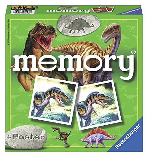 Ravensburger–22099–Lernspiel – Memory, Dinosaurier