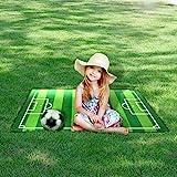 Alisa Kinder Baby FUSSBALL FELD Teppich Matte (130 * 100 cm) Moderne Design Spielmatte Kinderzimmer Teppiche Rutschfeste