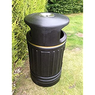 6 x Heritage Ryde Large Capacity Plastic Outdoor Litter Bin with Ashtray