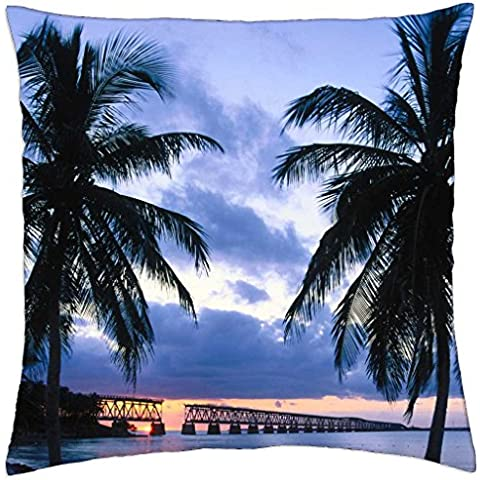 old bahia honda bridge florida keys - Throw Pillow Cover Case (18