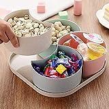 Surenhap Obstschale Set Lebensmittel Container Snacks Boxen Spender Deckel für Snacks Früchte Nüsse Bonbons Staubschutz Snacksgeschirr (Viereck)