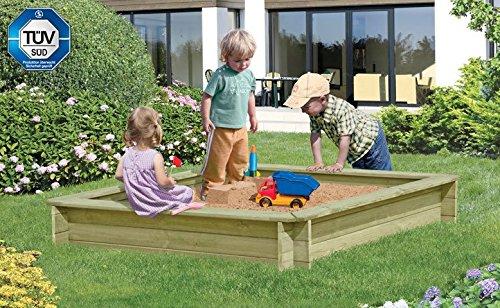 Sandkasten Werner 180 x 180 x 30cm, mit Abdeckung blau (67043+67037), Sandkiste, Buddelkiste, Sandbox, Spielkasten von Gartenwelt Riegelsberger