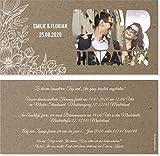 Hochzeit Einladungskarten Hochzeitskarten Vintage Kraftpapier weisse Blumen (20)
